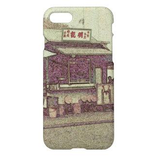 Hong Kong retro: Capa de telefone ao ar livre da