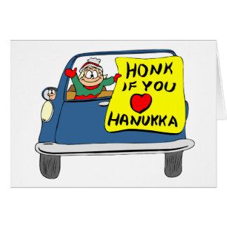 Honk se você ama o cartão de Hanukkah