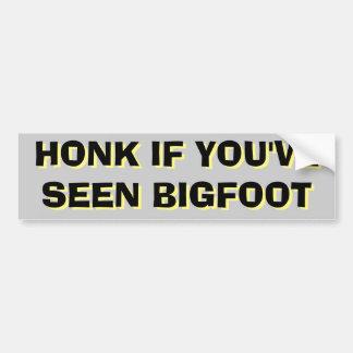 Honking para o preto e o amarelo de Bigfoot Adesivo Para Carro
