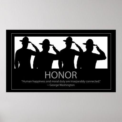 Honra com saudação de sargentos mostrados em silhu posteres