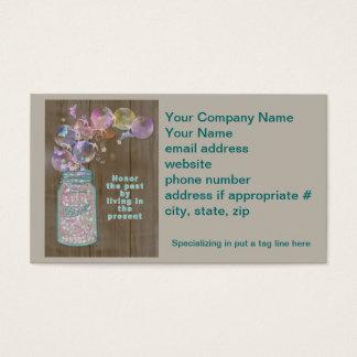 Honra do frasco de pedreiro o passado vivendo no cartão de visitas