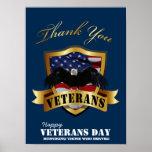 Honrando aqueles que serviram.  Dia de veteranos f Posteres