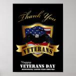 Honrando aqueles que serviram.  Dia de veteranos f Impressão