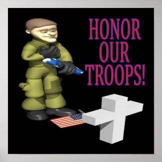 Honre nossas tropas posteres