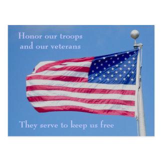 Honre nosso cartão das tropas