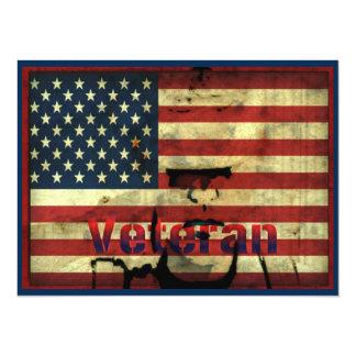 """Honre o dia de veteranos 7,5"""" cartão do convite de"""