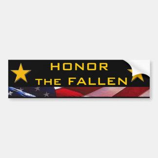 Honre os heróis caídos adesivo de para-choque