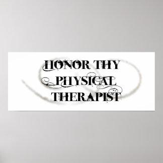 Honre Thy fisioterapeuta Impressão