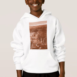 Hoodie 1879 do mapa de Brooklyn do vintage na