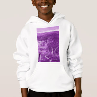Hoodie 1879 do mapa de Brooklyn do vintage no roxo