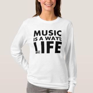 Hoodie: A música é um modo de vida Camiseta