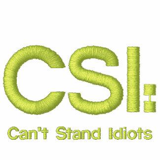 Hoodie bordado branco CSI: Não pode estar idiota Moletom Bordado