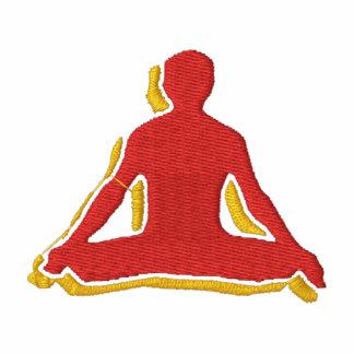 Hoodie bordado ioga do fecho de correr dos homens jaqueta de moleton bordada com capuz