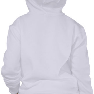 Hoodie branco do fecho de correr da menina da danç moleton com capuz