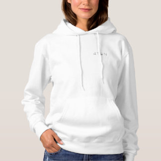 Hoodie branco do pulôver das mulheres 4TEN