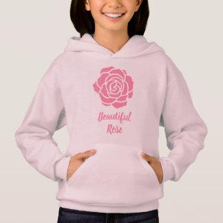 Hoodie cor-de-rosa bonito cor-de-rosa (criança)