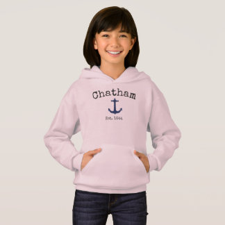 Hoodie cor-de-rosa de Chatham Massachusetts para