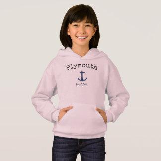 Hoodie cor-de-rosa de Plymouth Massachusetts para