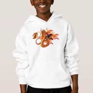 Hoodie coral do miúdo do dragão do fogo