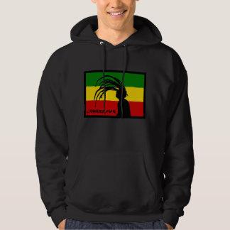 hoodie da bandeira do pífano de johnny do rasta moletom com capuz