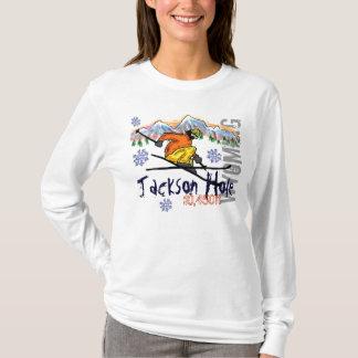 Hoodie da elevação do esqui de Jackson Hole Camiseta