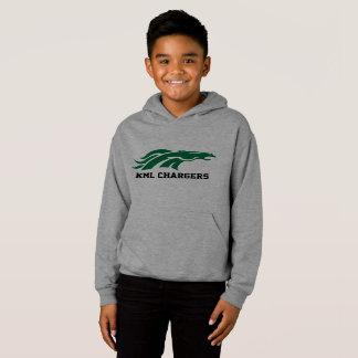 Hoodie do carregador dos miúdos - logotipo verde