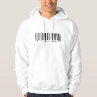 Hoodie do código de barras de FKOA Moleton Com Capuz