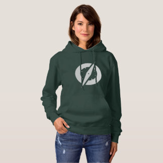 Hoodie do compasso das mulheres (verde) tshirt