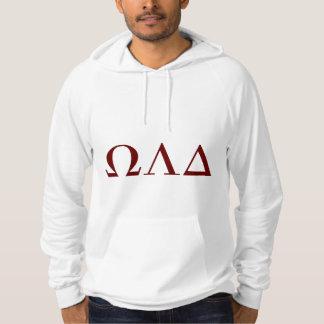 Hoodie do delta de Omega Lambda dos homens Moletom