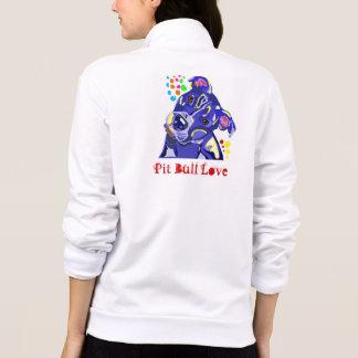 Hoodie do fecho de correr do amor do pitbull jaquetas para estampar