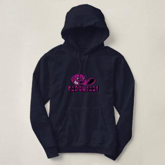 Hoodie do marinho das mulheres com logotipo moletom