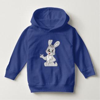 hoodie do pulôver da criança com imagem do coelho
