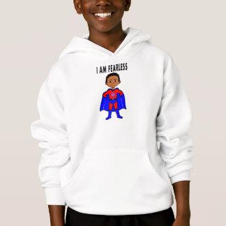 Hoodie do super-herói do menino do afro-americano