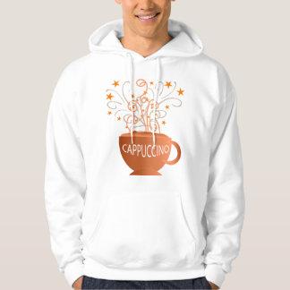 hoodie dos homens do cappuccino moletom com capuz