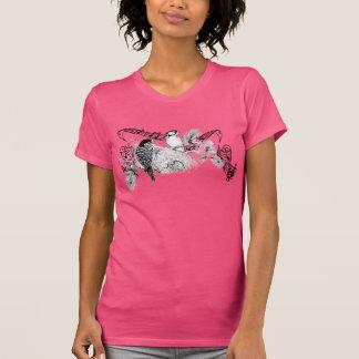 Hoodie dos pássaros do amor do vintage camiseta