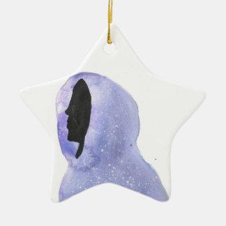 Hoodie feito da luz das estrelas ornamento de cerâmica