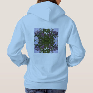 Hoodie malva do Fractal da flor & do céu da árvore Moletom