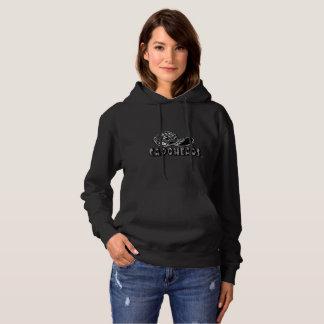 Hoodie preto w/Logo do CapoHeads das mulheres Moletom