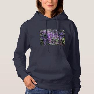 Hoodie roxo da flor da conversão (marinho) camisetas