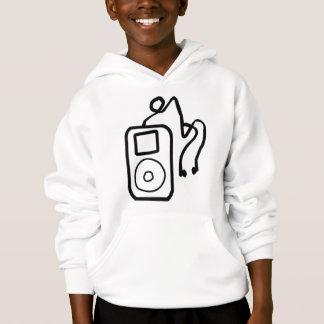 Hoodie tirado de iPod