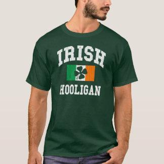 Hooligan irlandês design afligido camiseta
