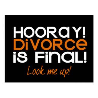 HOORAY! Cartões do anúncio do divórcio