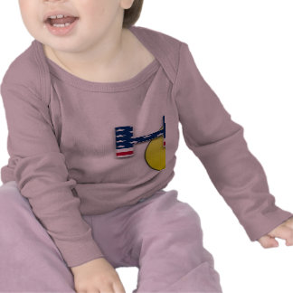Hooty que luva longa infantil camiseta