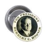 Hoover para o presidente - botão boton