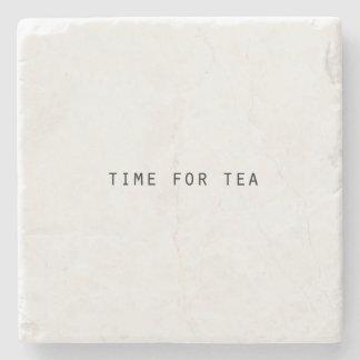 Hora clássica para o chá porta copos de pedras