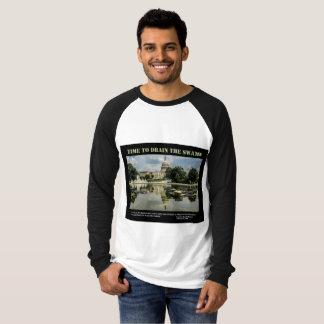 Hora de drenar o jérsei dos homens do pântano camiseta
