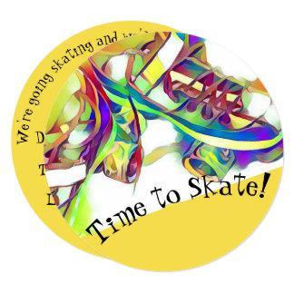 Hora de patinar convite de festas