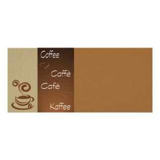 hora do café 10.16 x 22.86cm panfleto