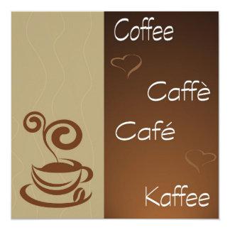 hora do café convite quadrado 13.35 x 13.35cm