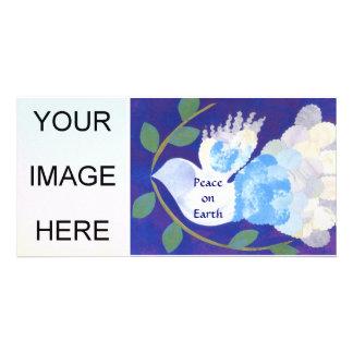 Hora para o cartão com fotos da paz